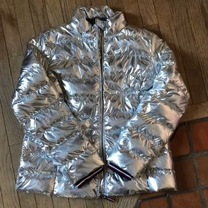 Tommy Hilfiger Silver Puffer Jacket